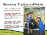behaviours practices and policies1