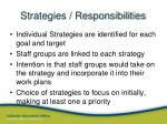 strategies responsibilities