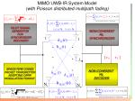 mimo uwb ir system model with poisson distributed multipath fading