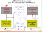 mimo uwb ir system model with poisson distributed multipath fading1