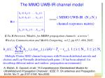 the mimo uwb ir channel model