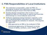 3 fwa responsibilities of local institutions