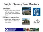 freight planning team members