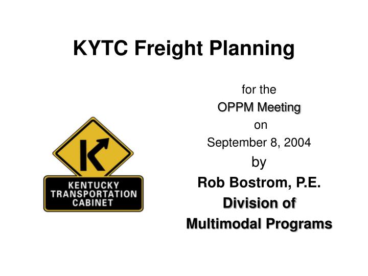 kytc freight planning n.
