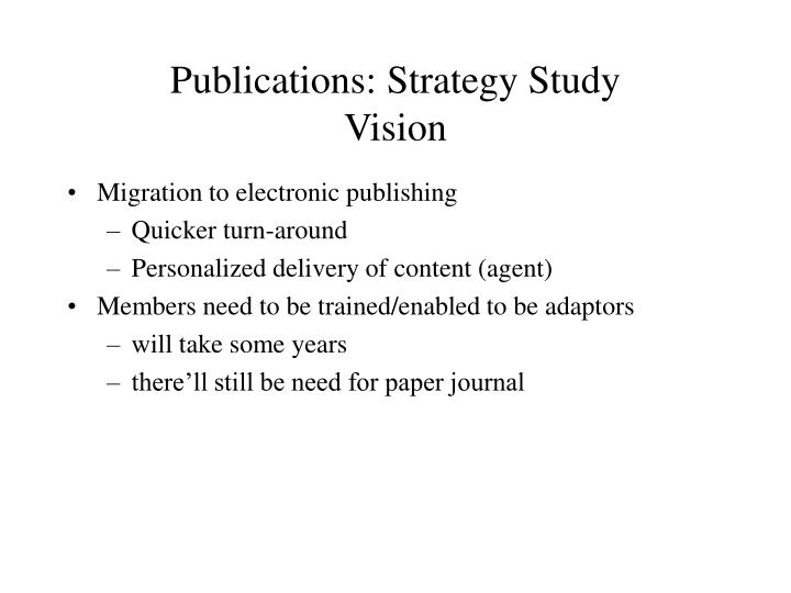publications strategy study vision n.