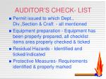 auditor s check list1