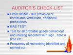 auditor s check list2
