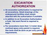excavation authorization