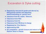 excavation dyke cutting