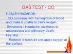 gas test co