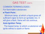 gas test contd1