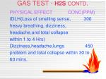 gas test h2s contd