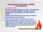 procedure for work permit system wps2