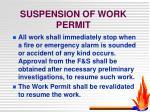 suspension of work permit