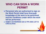 who can sign a work permit