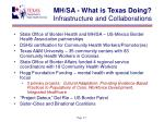 mh sa what is texas doing infrastructure and collaborations
