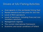 drivers of iuu fishing activities