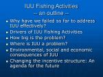 iuu fishing activities an outline