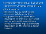 principal environmental social and economic consequences of iuu