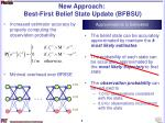 new approach best first belief state update bfbsu