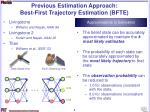 previous estimation approach best first trajectory estimation bfte