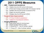 2011 opps measures