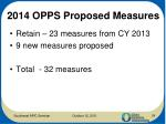 2014 opps proposed measures