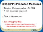 2015 opps proposed measures
