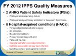 fy 2012 ipps quality measures