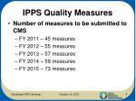 ipps quality measures