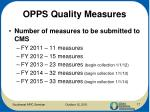 opps quality measures