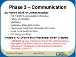 phase 3 communication