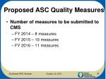proposed asc quality measures