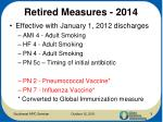 retired measures 2014