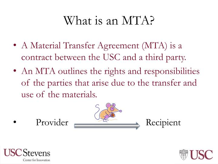 Ppt Material Transfer Agreements And A Little About Data Sharing