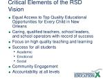 critical elements of the rsd vision