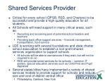 shared services provider