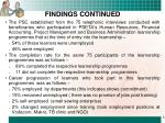 findings continued5