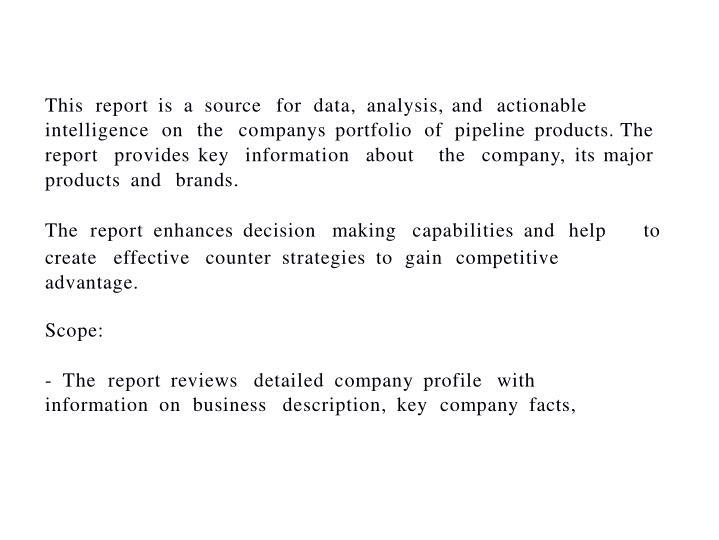 Cancer genetics inc cgix product pipeline analysis 20