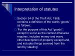 interpretation of statutes2