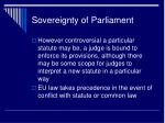 sovereignty of parliament