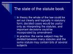 the state of the statute book