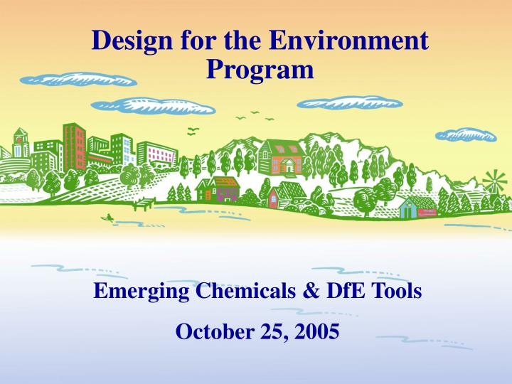 design for the environment program n.
