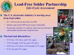 lead free solder partnership life cycle assessment