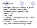 objek pph