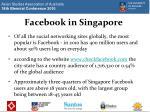 facebook in singapore