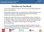 faceless on facebook