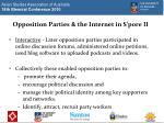 opposition parties the internet in s pore ii