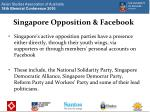 singapore opposition facebook
