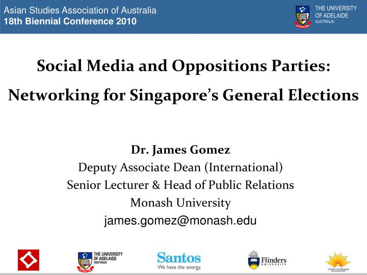 social media and oppositions parties networking for singapore s general elections n.